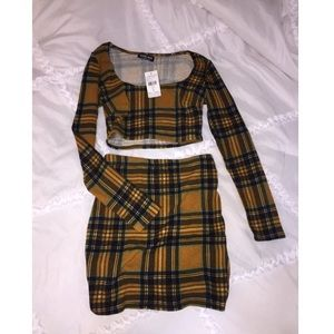 Plaid fashion nova matching set
